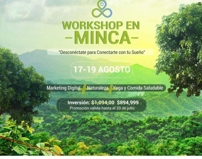 """Digital Marketing Workshop and Retreat """"Desconéctate para Conectarte con tu Sueño"""""""