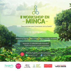 """Workshop en Minca """"Desconéctate para conectarte con tu sueño"""""""